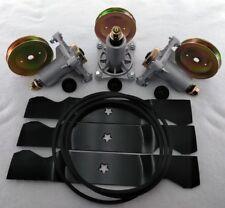 "Husqvarna YTH24K48 48"" Lawn Mower Deck Rebuild Kit Spindles Belt Pulleys Blades"
