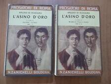 Apuleio di Madaura L'ASINO D'ORO 2 volumi Zanichelli 1960/1962