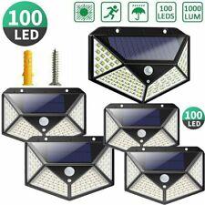 4Pack 100 LED Solar Power PIR Motion Sensor Wall Light Outdoor Garden Waterproof