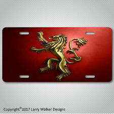HOUSE LANNISTER  Game of Thrones Aluminum License Plate Tag New