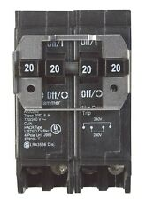 "Cutler Hammer Circuit Breaker Double Pole 20/20 Amp 1 "" Spaces Bulk"