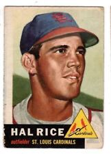 1953 Topps #93 Hal Rice - St. Louis Cardinals, Vg - Excellent Condition
