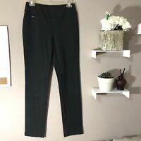 Lisette L Montreal Slim Pull-On Pants Womens Size 2 Gray