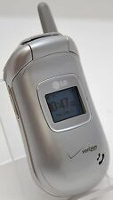 LG VX3450 Verizon Silver Flip Cell Phone Voice Dial Memo Recorder Vibrate 1xRTT
