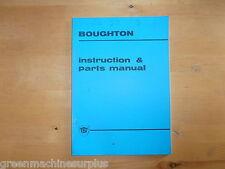 Boughton VERRICELLO W27M su trackmarshall 70 Trattore. MANUALE di istruzioni e le parti.