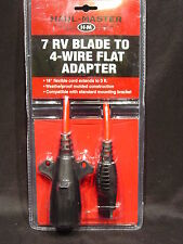Trailer Wiring Adapter 7 RV Blade Round to 4 Wire Flat 3' Extension Cord Towing