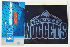 NBA Denver Nuggets Window Graphic - Silver Chrome Vinyl Decal 4x5 Basketball