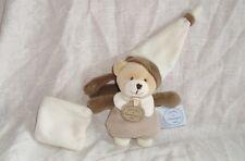 Mini doudou attache tétine ours pantin (10cm) ttbé