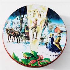 Vintage Christmas DeLuxe Fruit Cake Tin Texas Cowboy