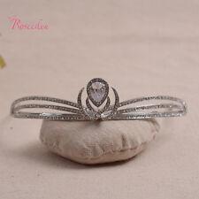 Tiara Headband Crystal Rhinestone Wedding Bridal Hair swan Headpiece pearl topaz