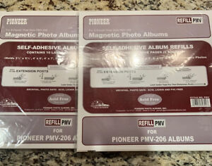 New Pioneer Self- Adhesive Album Refills Sold In Lot Of 2 Packs