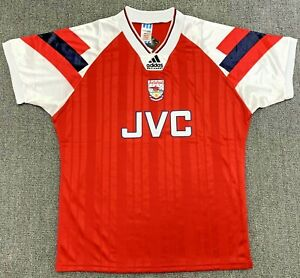VINTAGE ARSENAL FC SEASON 1992-94 JERSEY HOME, RED, RETRO [S to 2XL], FOOTBALL