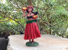 "New Hawaiian  Dashboard Hula Doll Dancer Girl Posing Red 7"""