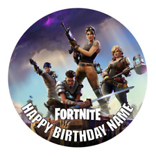 Fortnite Personalised Cake Topper Edible Party Decoration Round Image Fortnight