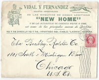 1917 Havana Advertising Cover - New Home Agents, Sewing Machines to Chicago