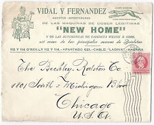 1917 Havana Advertising Cover - New Home Agents, Sewing Machines to Chicago*