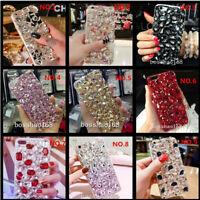 Jewelled Bling Crystal Full Rhinestone Diamond Soft TPU Back phone cover case N2