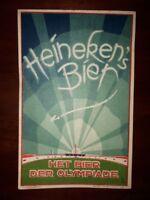 Extremely rare Heineken Beer Olympic postcard Olympiade 1928 Amsterdam
