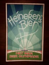 Extremely rare Heineken Beer Olympic postcard Olympiade 1928 Amsterdam