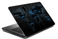 """Map Laptop Skin Black Colour Laptop Stickers Cover Decal Fits 14.1"""" To 15.6"""""""