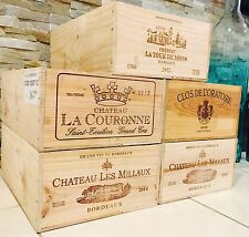 3 Wine Crate French Original Twelve count Bottles Original