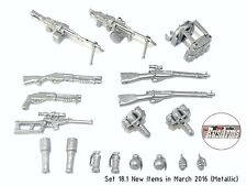 Set 18.1 New Items in March 2016 (Metallic) RusArms, Weapons for LEGO minifigs
