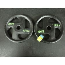 Ignite by SPRI 10 lb Dumbbell Weight Plates Set of 2 20 lb Total