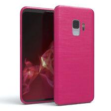 Schutz Hülle für Samsung Galaxy S9 Brushed Cover Handy Case Pink