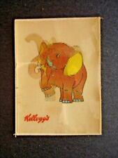 1970's? KELLOGGS *CARTOON ANIMALS* LENTICULAR CARD ELEPHANT  **RARE**