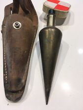 16 Ounce Brass Plumb Bob with 6 Ft Gammon Reel