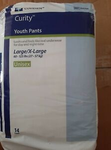Curity Youth Pants Youth Pull-On Diapers Size Extra Large (XL) Pk/14