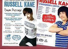 Set RUSSELL KANE Theatre Flyer Tour Handbills