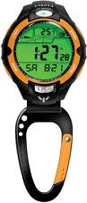 Dakota Clip Watch Black Orange Moonglow Luminescent 165ft Water Resistant 7546