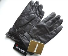 LARGE BARBOUR Dark Brown Leather Gloves Thinsulate Mens UK GB New Tags