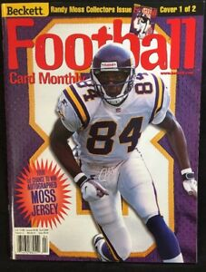 Beckett Football Card Monthly Magazine Randy Moss Cover April 1999 Cover 1