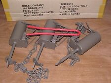 3 Powder Coated Duke DP Dog Proof Coon Traps & DP setterTrap Raccoon NEW SALE