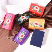 Double Support Embroidered Lipstick Case Holder With Mirror Inside & Snap xdLDLD