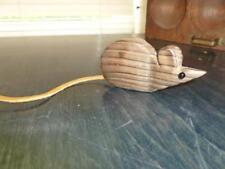 Vintage Wony Mid Century Cryptomeria Wood Miniature Carved Wood Mouse 1960-1970