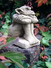 ** Steinfigur Gartenfigur Torwächter Gargoyle Pollux II frostfest & vollmasiv **