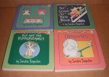 Lot of 4 Sandra Boynton Board Books NEW