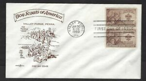 1950 #995 Boy Scout FDC Valley Forge PentArts hike