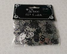 Art déco noir & argent brillant confettis de table paillettes 60th anniversaire/anniversaire