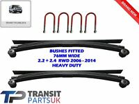 2 HEAVY DUTY 3+1 4 LEAF SPRINGS + UBOLTS FORD TRANSIT MK7 2.2 2.4 RWD 2006-2014