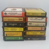 Lot Of 12 Classic Country 8 Track Tapes Untested Johnny Cash Waylon Etc Vintage