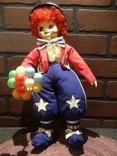"Vintage Brinn's Porcelain July Calendar Clown Doll 14"" 1988 Patriotic"