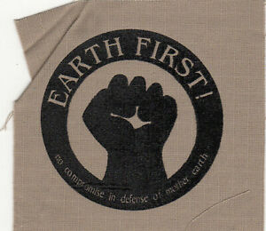 Earth First - screenprinted patch