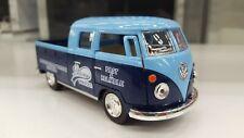 1963 Vw Volkswagen Bus Double Cab Pick-up blue kinsmart car model 1/34 scale