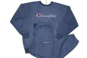 CHAMPION 90'S VINTAGE EMBROIDERED SPELL OUT SWEATSHIRT FULL TRACKSUIT,SIZE:LARGE