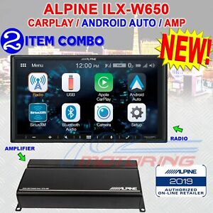 ALPINE iLX-W650 COMPATIBLE WITH CARPLAY AND ANDROID AUTO + KTA-450 AMP NEW!