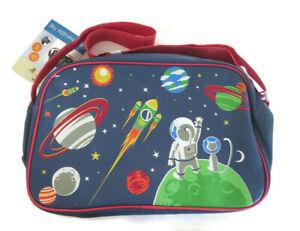 BNWT Kid's Lily & Dan PVC Overnight Bag Space Planets Astronauts